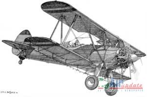 Stearman Pen and Ink Drawing